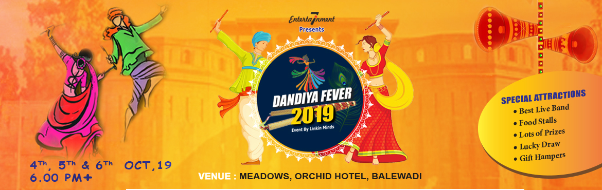 Book Online Tickets for Dandiya Fever 3.0, Pune.  Linkin Minds is back, it's that time of the year when the city dazzles with glimmering lights, foot-tapping music, and everyone is busy pandal hopping all night. Yes, we are indeed speaking about the Dandiya Fever that grips the Pune city