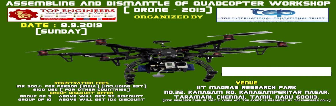 Book Online Tickets for ASSEMBLING AND DISMANTLE OF QUADCOPTER W, Chennai.     AGENDA   INTRODUCTION CONCEPTS APPLIED IN QUADCOPTER INTRODUCTION TO SENSORS AND ESC'S DESIGN OF THE STRUCTURE UNDERSTANDING ROTARY – WING AIRCRAFT AND THEIR DYNAMICS FLIGHT CONTROLLER BOARDS RADIO DEVICES ALGORITHM OF THE CONTROL OF