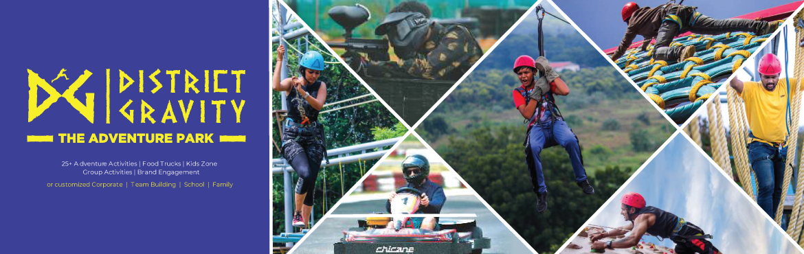 Book Online Tickets for District Gravity - The Adventure Park, Hyderabad. An initiative of BRS Infraventures and Projects Private Limited, our intent behind District Gravity is to create a common playground for those who relish the euphoria of thrill. A place where all inhibitions are shed and you give in to the moment of