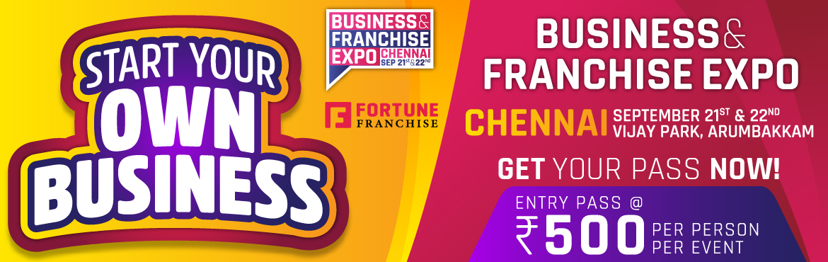 Book Online Tickets for Business and Franchise Expo - Chennai, Chennai. Meetup overviewWelcome to the Business & Franchise Expo . Business opportunity and franchise expo is an exclusive expo to explore a wide range of business opportunities thus giving a platform to investors, inspiring entrepreneurs and business own
