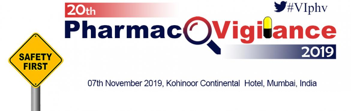 Book Online Tickets for  20th Pharmacovigilance 2019, Mumbai.   20th Pharmacovigilance 2019 07th November 2019, Kohinoor Continental Hotel, Mumbai, India   20th Pharmacovigilance 2019 Conference provides the strongest context, background, updates, new developments, and future direction for regulations