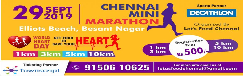 Book Online Tickets for Chennai Mini Marathon 2019, Chennai. Dear Participants,  Chennai Mini Marathon 2019Event Expo Details: Date: 28th September 2019. Venue: Decathlon Teynampet ( Location Link:https://goo.gl/maps/he3RQZgSL7rHctiu8) Timing: 12.00 pm to 6.00 pm  Event Kit Contai