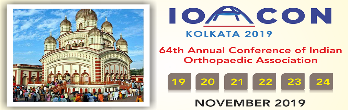 Book Online Tickets for Indian Orthopaedic Association 64th Annu, New Town. Every Year IOA organizes orthopaedic conferences which improves the practices of orthopedic surgery. This year orthopaedic conference, IOACON 2019 will be held in West Bengal from 19th November to 24th November. The venue of the conference is Biswa B