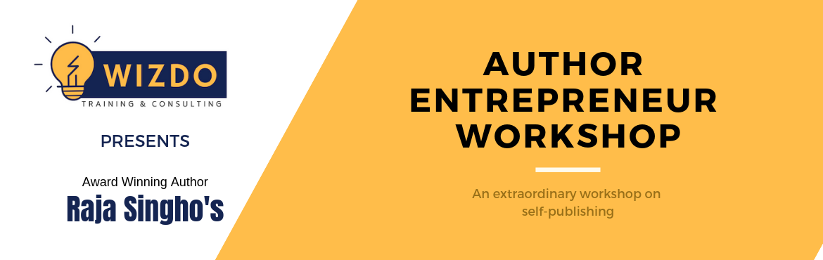 Book Online Tickets for Author Entrepreneur Aspirant - Seminar, Hyderabad. Become an Author - Gain Credibility & Visibility Wizdo\'s Author Entrepreneur workshop comes to Hyderabad after Successful batches in Chennai, Kolkata, Mumbai and Bangalore!!  Come attend the Introductory Semina