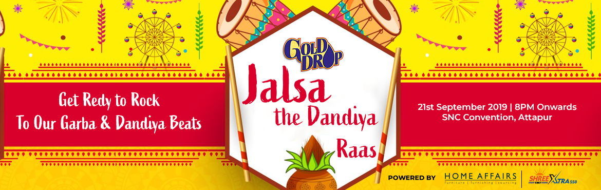 Book Online Tickets for Jalsa- The Dandiya Raas, Hyderabad. Don\'t miss out the Festive atmosphere of Garba & Dandiya with Catchy music that makes you want to dance...  Come Dance to the beat of your dreams and indulge your taste buds with an inspired spread @ JALSA... the dandiya raas!!..   *We