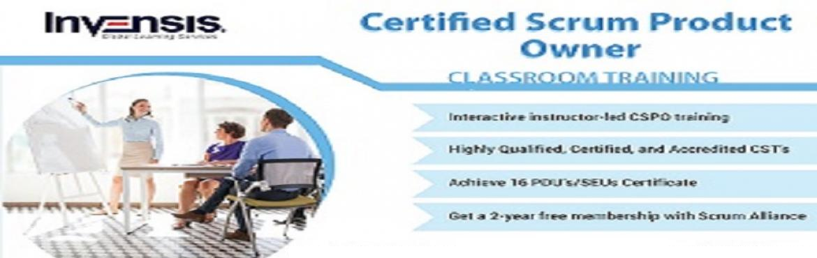 Book Online Tickets for Certified Scrum Product Owner Classroom , Bengaluru. Invensis Learning is conducting a 2-day Certified Scrum Product Owner (CSPO) training course in Bangalore, India.This CSPO Certification Course in Bangalore is ideal for individuals and enterprises that are looking to understand the business si