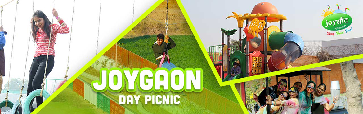 Book Online Tickets for  JOYGAON DAY PICNIC, Jhajjar. Joygaon is spread over an area of 9 acres of land on Haryana State HighwayJoygaon provides you with the experience of ethnic village's culture, activities, food, dance, music, along with Modern indoor/outdoor games. You will definitely learn an