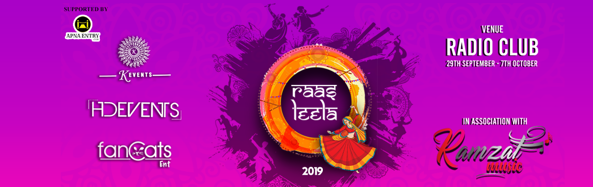 Book Online Tickets for Raas Leela Navratri 2019, Mumbai. Raas Leela Navratri 2019 will Offer you one of the best experiences. What all we offer? -  Live Gujarathi Folk Band Music Dancing on the bay Play Field Food and Beverage Only Outdoor Navratri Event   Name of