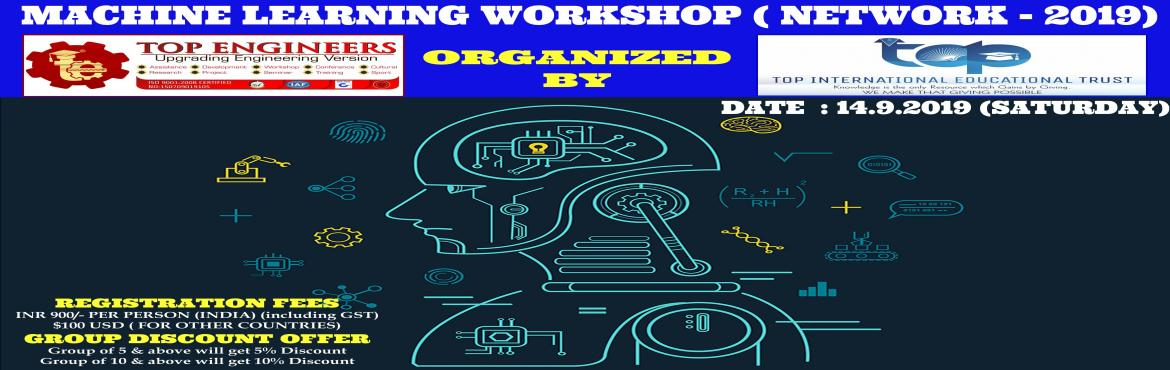Book Online Tickets for MACHINE LEARNING WORKSHOP ( NETWORK - 20, Chennai.     AGENDA   [1] Dive into the world of Machine Learning. [2] Great Examples of ANN. [3] Intro to Artificial Neural Networks. [4] Explaining ANNs in depth. [5] Various techniques for ANN Optimization. [6]basics of ml - supervised, unsupervised, reinf