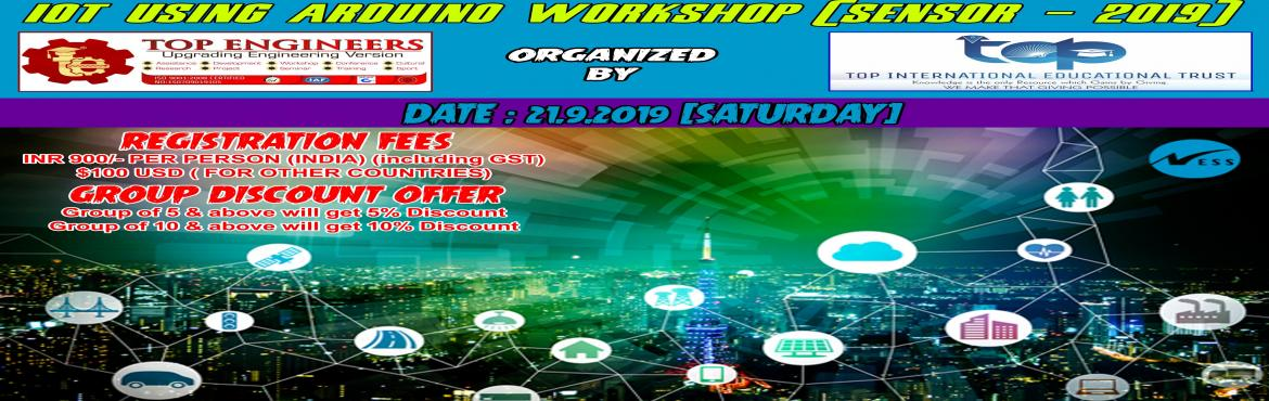 Book Online Tickets for IOT USING ARDUINO WORKSHOP (SENSOR - 201, Chennai.     AGENDA   IoT Concepts & Definitions Understanding various protocols and Network types used in IoT Introduction to Embedded Development Boards – Arduino, NodeMCU-ESP8266 Hands-on programming with Arduino IDE Introduction and dealing with