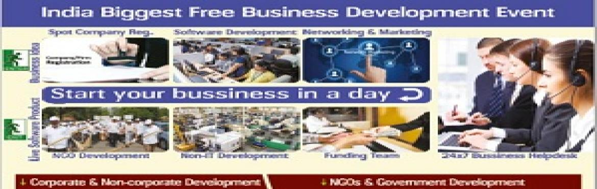 Book Online Tickets for India Biggest Free Business Development , Bengaluru.      Get Free Website for your company products and services #Slot1:     9:30am-12:30pm. #Slot2:     1:30pm-5:30pm.   *Free Website development with hosting to provide the identity of y