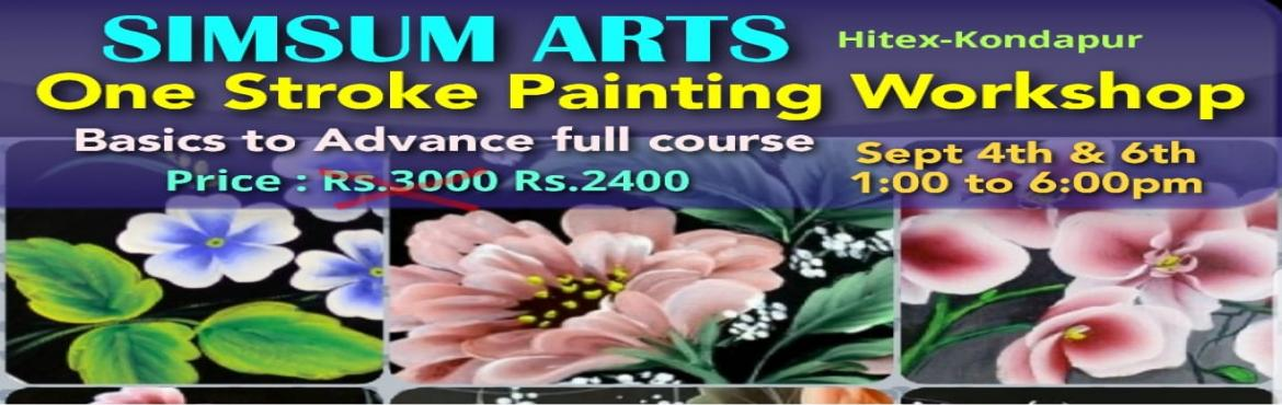 Book Online Tickets for One Stroke Painting Workshop, Hyderabad. Hurry, Register Online and save Rs.300/-. Spot Registration will attract Rs.300/- additional fee.SimSum Arts Gallery and Studio is conducting One Stroke Painting Workshop.  Register and join us to learn the different techniques to blend, shade a