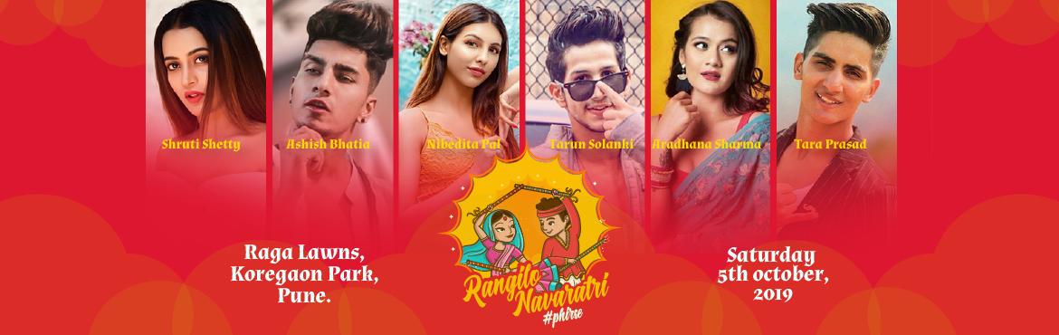 Book Online Tickets for RANGILO NAVRATRI PHIRSE, Pune. Hey Pune people, get ready to be a part of the peppiest event of the season. Rangilo Navratri #Phirse is back with refilled liveliness and masti. An initiative of Makarand Deshmukh events and managed by ice nation. Besides, the celebrity line up and