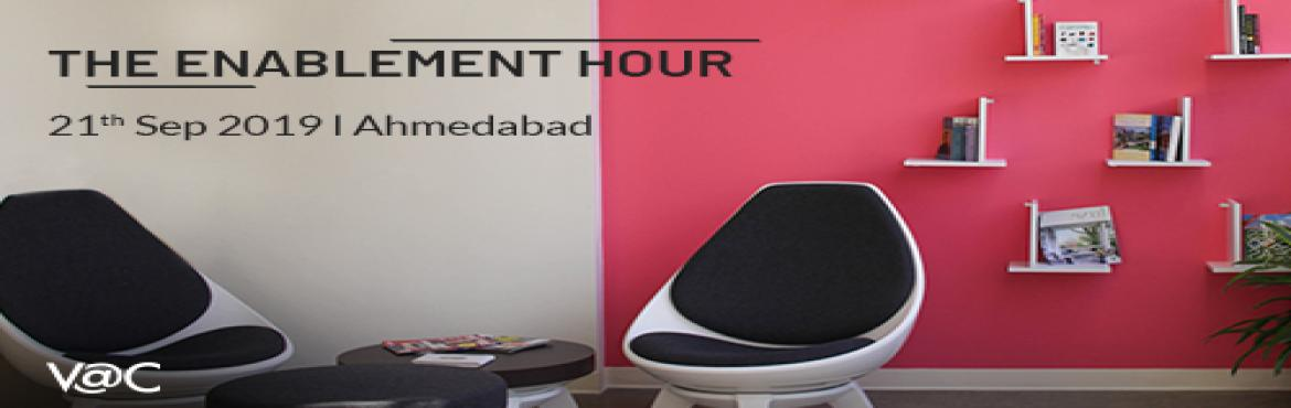 Book Online Tickets for Enablement Hour - Ahmedabad, Ahmedabad. Are you a budding entrepreneur? Then this is for you! Calling all entrepreneurs to book their slot for a dedicated, one-on-one brainstorming session with our Startup Enabler from Viridian Accelerator Centre. The Startup Enabler will guide entrepreneu