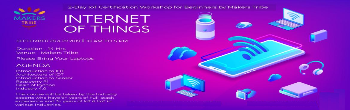 Book Online Tickets for 2 Days IoT Certification Workshop for Be, Chennai. Internet of Things has already become a part of our lives. In a few years (maybe 2-3 years), there won\'t be any jobs without the involvement of IoT. You can apply for any job, be it developer, designer, manager, data analyst, architect or whatever,