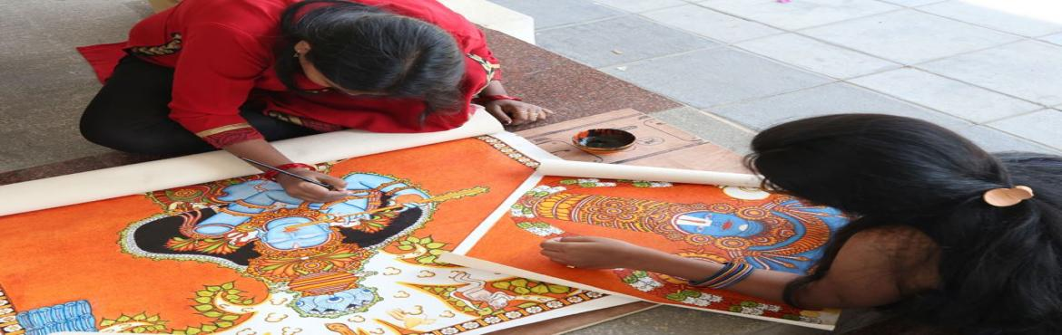 Book Online Tickets for 7 Days workshop on Kerala Mural Painting, Hyderabad. Explore the magic and freedom of turning a poem into a painting. Understand how the Gods, Goddesses, subjects or situations are all embedded into little shlokas. Experience how mural artists meditate on these 'shlokas' and translate their