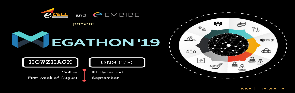 Book Online Tickets for Megathon 2019 Onsite, Hyderabad.  India\'s largest student run hackathon - Megathon is back! Featuring Embibe as title sponsor and Micron India as associate sponsors and Qualcomm and PwC as challenge sponsors, E-Cell IIIT Hyderabad brings to you the 4th Edition of Megathon, wit