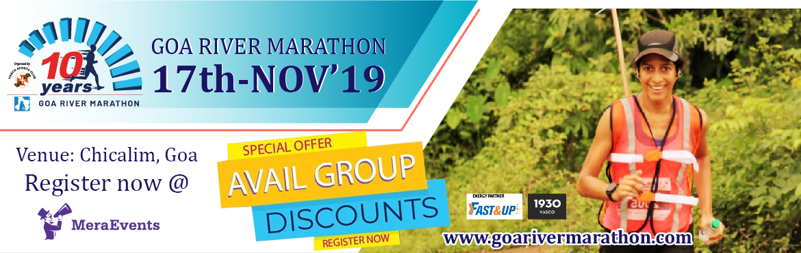 Book Online Tickets for Goa River Marathon, Vasco da G. Goa River Marathon    \