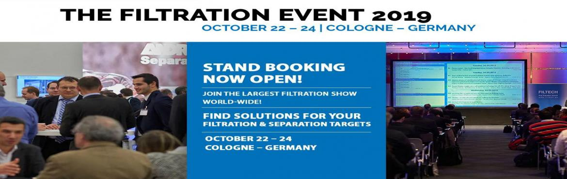 Book Online Tickets for FILTECH Cologne 2019, Cologne. Filtech is the largest platform for those who deal in designing, fabricating, buying, selling and researching in Filtration and Separation Event. It covers wide market segment including both commercial and technical sectors to come forward and join h