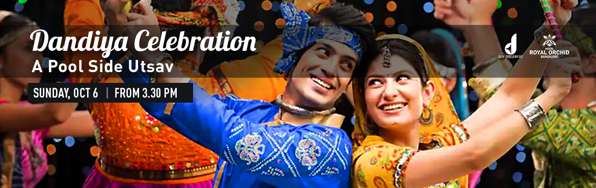 Book Online Tickets for Dandiya Celebration -A Pool Side Utsav, Bengaluru.  Dandiya Celebration -A Pool Side Utsav Day Dreamers Presents..!!Dandiya Celebration - A Pool Side Utsav..!!Its the season of dancing till you can\'t stand any longer and then dancing just a little bit more..!!Filled with energy... Garba music l