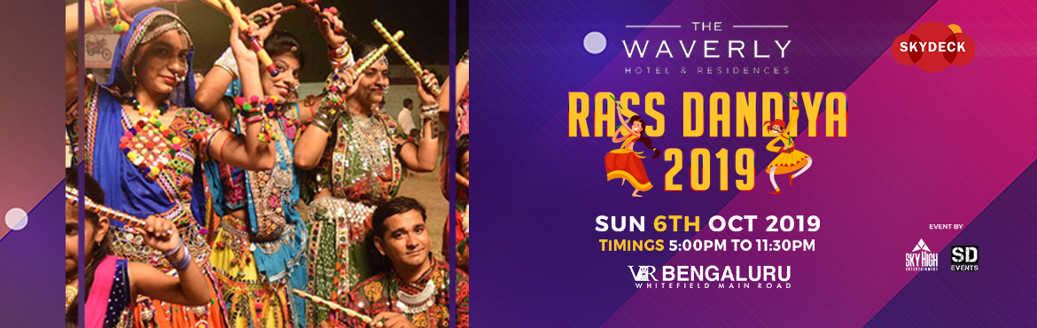 Book Online Tickets for Biggest Dandiya Rass @Skydeck VR Bengalu, Bengaluru.  Biggest Dandiya Rass @Skydeck VR Bengaluru - Vol 2 If dandiya isn\'t hyper enough for you, try encountering in Raas dandiya at @Skydeck VR Bengaluru. Live Dhol, beats by Top DJ\'s, and more? We cannot keep calm, and we know neither can you. So