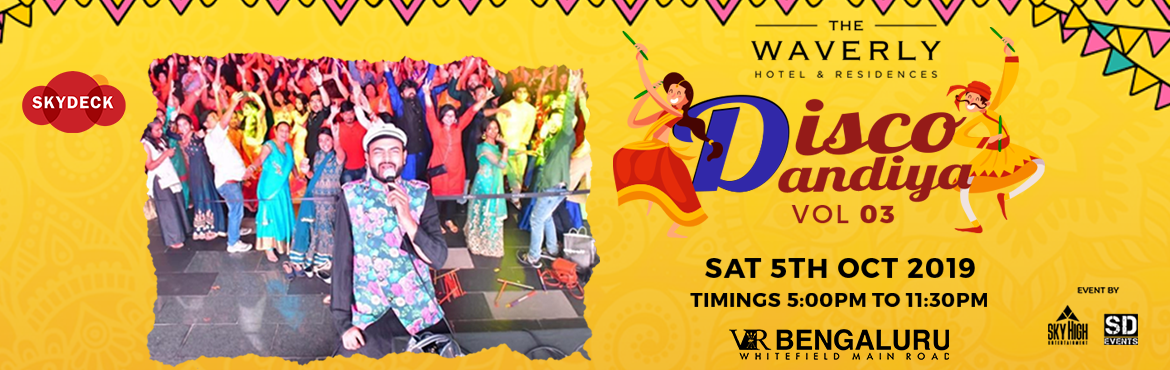 Book Online Tickets for Bangalores Biggest Disco Dandiya Vol  3, Bengaluru. Don\'t you just love seeing the otherwise laidback folk of Bengaluru get super energetic during Navratri, thanks to Dandiya & Garba nights? We sure do! So, ladies and gents, get those colorful Chaniya cholis and dhoti Kurtas, get ready and hit up
