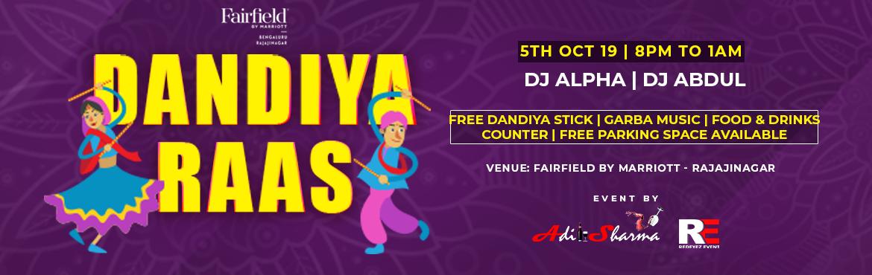 Book Online Tickets for Dandiya Raas 2019, Bengaluru. Dandiya Raas 2019 atFAIRFIELD BY MARRIOTT, Rajajinagar BANGALORE BIGGEST DANDIYA NIGHT 2019 \