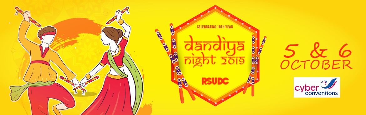 Book Online Tickets for Dandiya night 2019 at Cyber Conventions, Hyderabad. And our very own navratri season is back,indias biggest social dancing festival, RSUDC is back with 10th annual Dandiya Night 2019 event of Hyderabad.   Garba -Dandiya -Disco dandiya  With lots of exciting prizes, goes without saying w