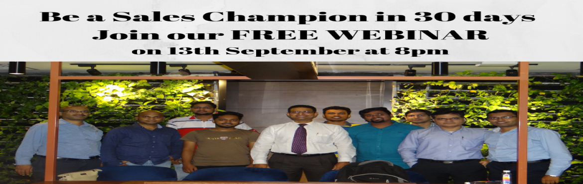Book Online Tickets for Be a Sales Champion in 30 days, Thane.   ‼‼ Attention Corporate Sales Executives, Sales Managers and Strategic Account Managers ‼‼ Do you wish to be a Sales Champion but don't know how ❓ We will show you how to be a Sales Champion in 30 days ‼