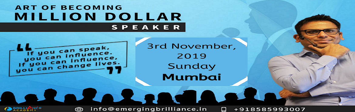 """Book Online Tickets for Art Of Becoming Million Dollar Speaker -, Mumbai. Event Description           Overview In this workshop, Amandeep will teach you """"how-to"""" deliver compelling messages, with real-world strategies, that will captive and mesmerize your audience. It will teach you by getting you to do the mat"""