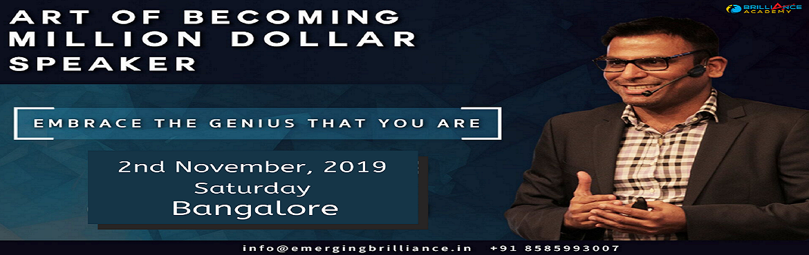 """Book Online Tickets for Art Of Becoming Million Dollar Speaker -, Bengaluru. Event Description  Overview In this workshop, Amandeep will teach you """"how-to"""" deliver compelling messages, with real-world strategies, that will captive and mesmerize your audience. It will teach you by getting you to do the"""