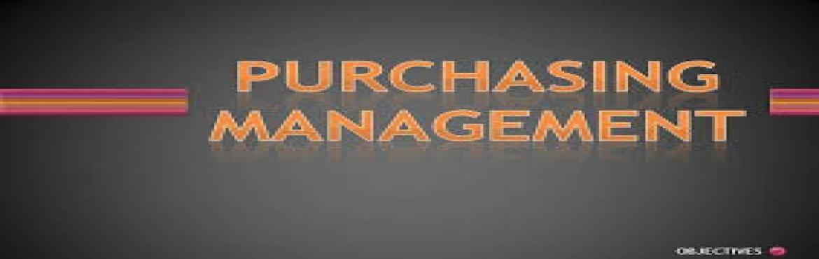Book Online Tickets for EFFECTIVE PURCHASE MANAGEMENT  , Bengaluru. Purchase is no longer a support function or attached to the apron strings of production department. In an environment characterized by many unknowns, purchasing professionals must assist general management by providing purchasing expertise for strate