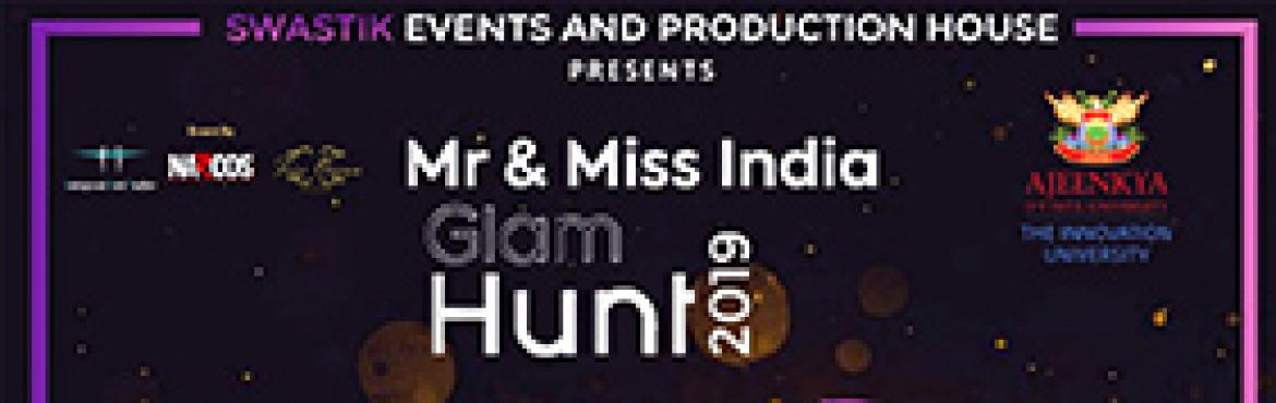 "Book Online Tickets for MR and MISS INDIA GLAM HUNT 2019  PUNE A, Pune. MR & MISS INDIA GLAM HUNT 2K19  ""All our dreams can come true if we have the courage to pursue them."" Guys get ready to be a part of the biggest gala. Food, stay ( for all the days) and designer outfits for the show will be provi"