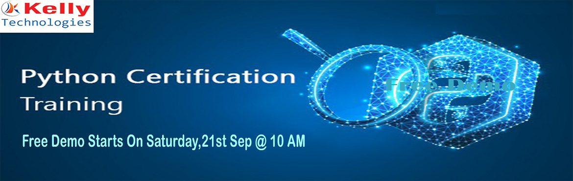Book Online Tickets for Free Demo On Python By The Industry Expe, Hyderabad. Get Enrolled For the Free Demo On Python By The Industry Experts On 21st Sep, 10 AM, Hyderabad About The Demo-  Visit For Free Python Demo Of \