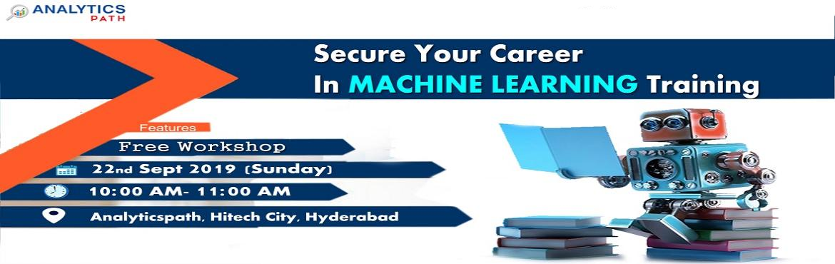 Book Online Tickets for Enroll now to avail the Analytics Path M, Hyderabad. About The Workshop: Interested in securing a career in Machine Learning? But are you confused on how to begin with your success journey in the Machine Learning professional career? IF so then you have come to the right place. Analytics Path with the