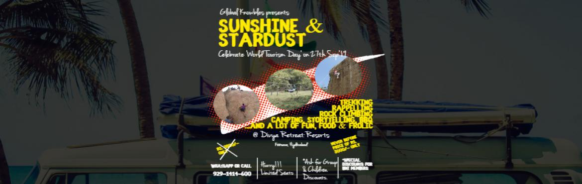 "Book Online Tickets for Sunshine and Stardust Adventure Camp, Ramlingam . GlobalVentures (a Global Knowbles initiative) presents ""Sunshine & Stardust"" adventure camp, celebrating ""World Tourism Day"" on the 27th & 28th Sep'19, at Divya Retreat, Keesara, Hyderabad. Keesaragutta is a hill"