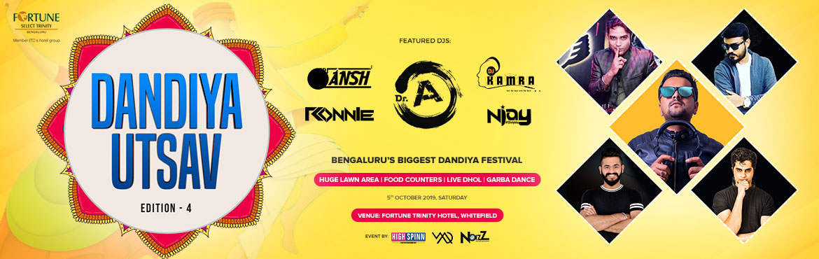 Book Online Tickets for Dandiya Ustav Edition 4, Bengaluru. Bangalore be ready for biggest Dandiya Ustav-4.0 !! Its the 4th year in a row where we started with 800 people, every year it\'s increasing with your love and support. last year we turned around 4000 Plus people played dandiya !!This Year we back wit