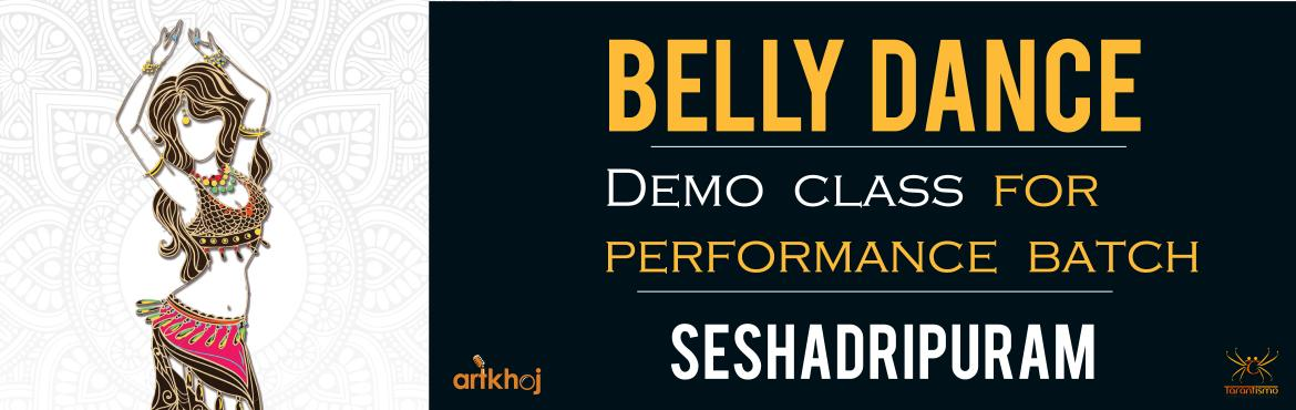 Book Online Tickets for Belly Dance Demo Class (Seshadripuram), Bengaluru.  About the workshop:  A 90 Minute demo class is designed for complete novices & people who have a keen desire to explore & try Belly Dance. The class is divided into,  -Warm-up  -Intro to Belly Dance Histor