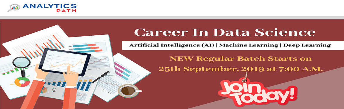 Book Online Tickets for Register For Data Science Training New R, Hyderabad. Register For Data Science Training New Regular Batch By IIT & IIM Experts At Analytics Path Starting From 25th Sept, 7 AM, Hyderabad.  About The Data Science Training Program: The prominence of Data Science technology isn't new to anyone. A