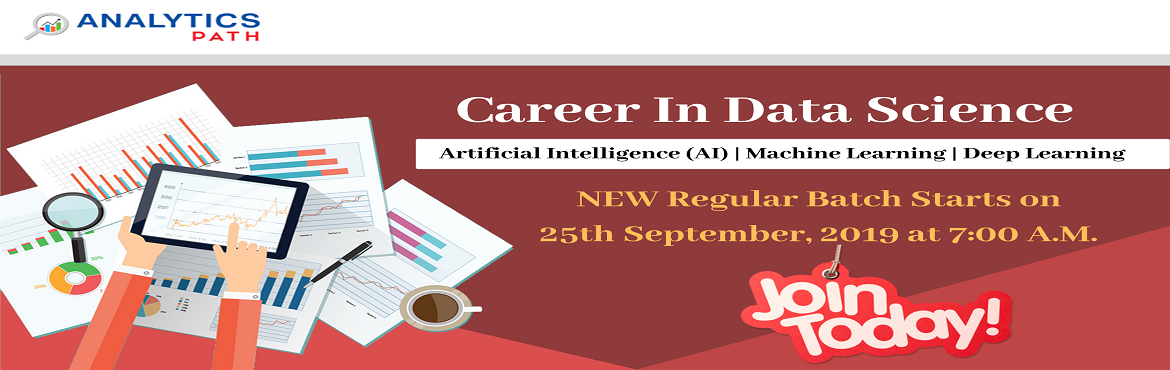 Book Online Tickets for Register For Data Science New Regular Ba, Hyderabad. Register For Data Science New Regular Batch By IIT & IIM Experts Commencing From 25th Sept, 7 AM , Analytics Path, Hyderabad About The Data Science Training Program: Almost every business uses some kind of data analytic tools to optimize deliveri