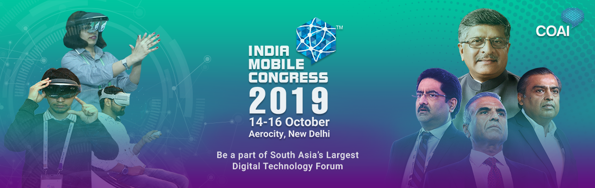 Book Online Tickets for IMC2019 - Ministry Registration, New Delhi. India Mobile Congress is the largest digital technology platform and event in South Asia, jointly organized by the Cellular Operators Association of India (COAI) and the Department of Telecommunications (DoT). IMC 2019, with its theme \