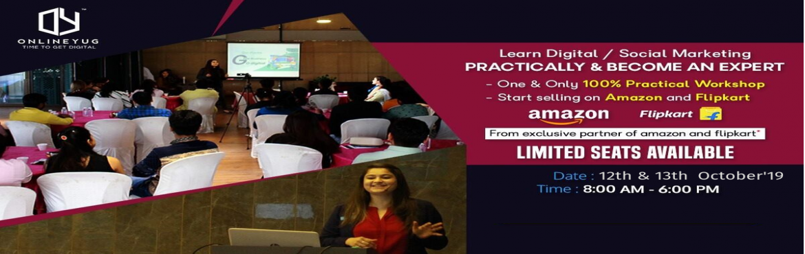 Book Online Tickets for Digital Marketing Workshop With Practica, Surat. Learn Digital Marketing & Online Selling on AMAZON & FLIPKART in just 2 days workshop by industrial experts -What will you learn?Fundamental of MarketingSocial Media Marketing (SMM)Paid Campaigns (SEM)Local SEO On Page & Off page SEO (Bas