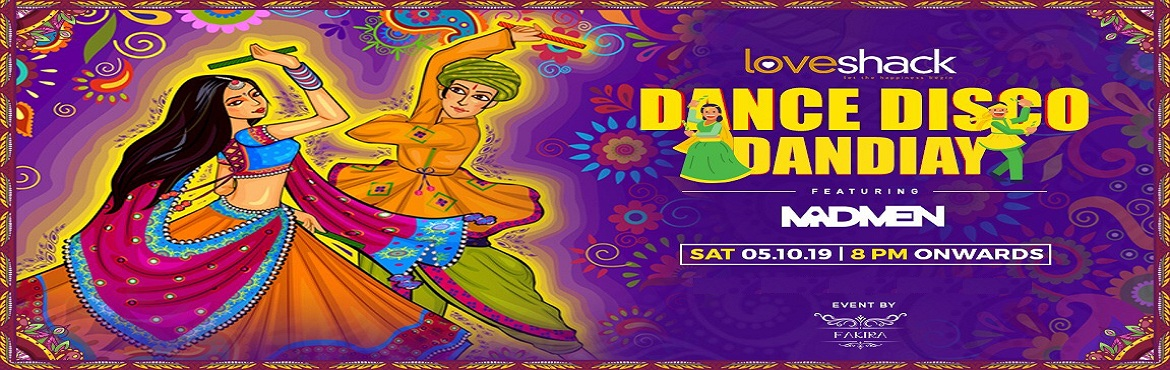 Book Online Tickets for DISCO GARBA NIGHT at Love Shack , Bengaluru. Third-year in a row presenting the best club Dandiya night at Loveshack.  DJ Madmen playing the most popular Bollywood and Garba music in the house.  Free snacks (veg) for guest in the house (for bookings online only)
