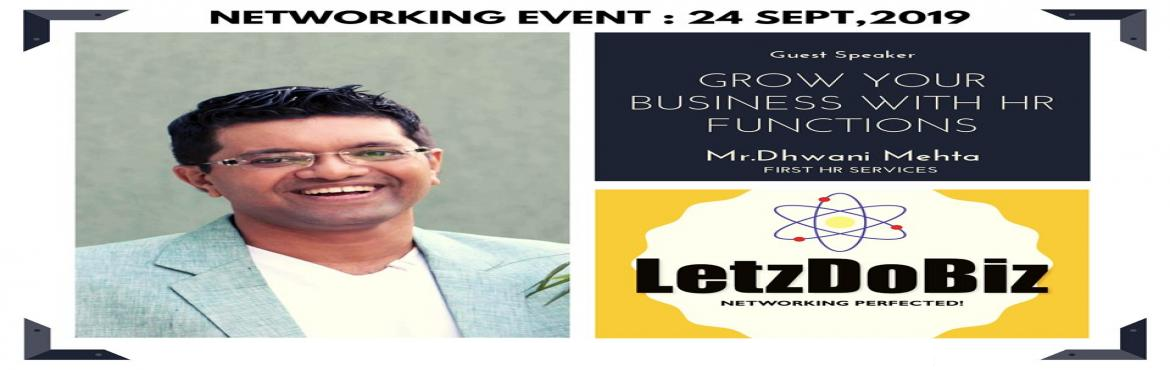 Book Online Tickets for Networking Event by LetzDoBiz.com, Mumbai. Hey Entrepreneur, Are you concern about lower team output and employee effectiveness? Thankfully \