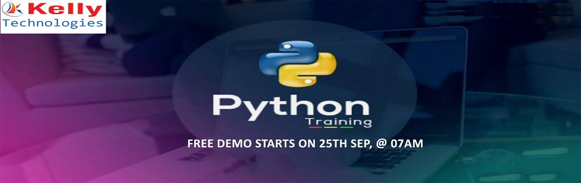 """Book Online Tickets for Free Demo On Python Training Exclusively, Hyderabad. Must Attend Free Demo on Python, Titled """"Career At The Kelly Technologies"""" On 25th Sep, @ 7 AM, Hyderabad Kelly Technologies with the intent of enlightening the knowledge among the job seeking aspirants regarding the scope of career"""