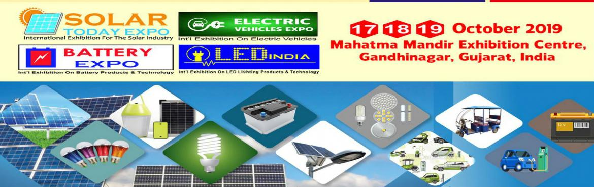Book Online Tickets for Solar Today Expo 2019, Gandhinaga. We are pleased to inform you that Star Exhibitions is organizing Solar Today Expo, Electric Vehicles Expo- Battery Expo- LED India Expo 2019 will take place from 17 to 19 October, 2019 at Mahatma Mandir Exhibition Centre, Gandhinagar, Gujarat- India.
