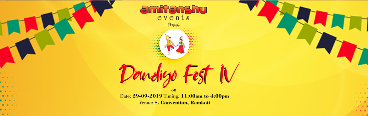 Book Online Tickets for Dandiya Fest 2k19 at S Convention, Hyderabad. Amitanshu events has been conducting Dandiya fest since 4 years .The main motto of the event is to make everyone enjoy .The Dandiya Raas dance originated as devotional Garbadances, which were performed in Goddess Durga\'s honor. ... Th