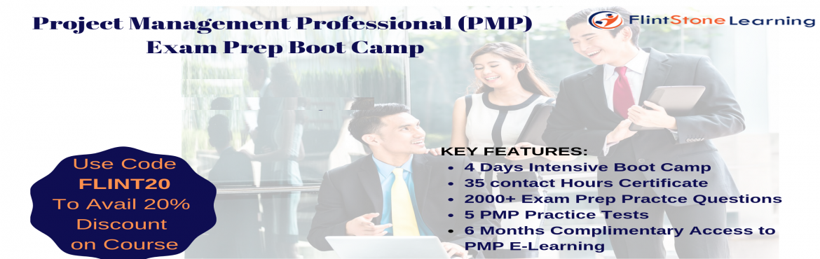 Book Online Tickets for PMP Boot Camp Training in Atlanta, GA, Atlanta. PMP(Project Management Professional) Certification Training Course has been conducted in Atlanta, GA byFlintstone Learning which is held on Oct 29-Nov-01, 2019   Dec 10-13,2019 Key Features for PMP Boot Camp: • All inclusive PMP exam prep