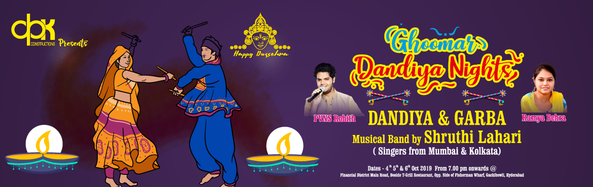 Book Online Tickets for Ghoomar Dandia Event, Hyderabad. Get ready to tune into the city beats with live shows,DJ\'s, mouth watering eateries and Dandiya*