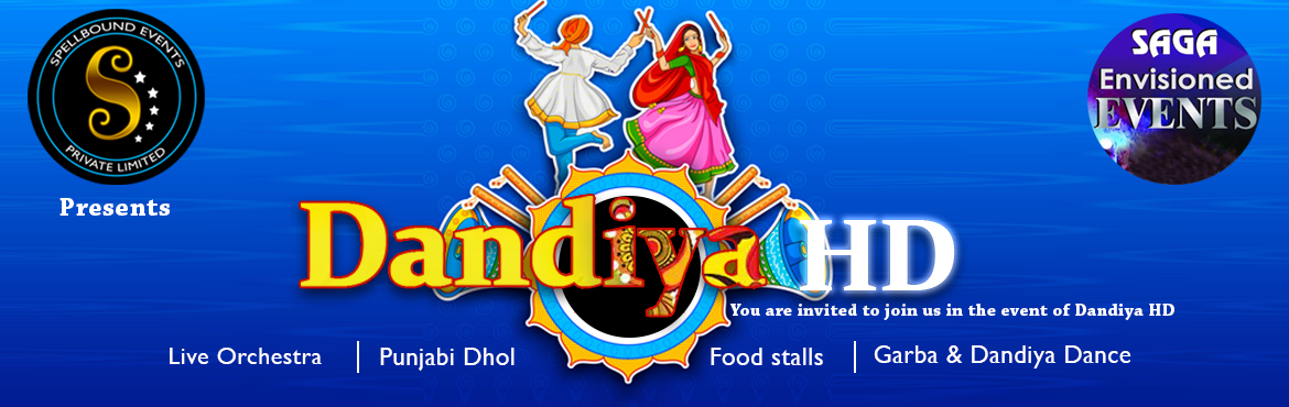 "Book Online Tickets for Dandiya HD, Hyderabad. The Dandiya H.D Organized as devotional garba and dandiya dance. This event involve a huge number of people at a time, ""musical instruments, surprise gift Punjab dhol,compitations,selfi booth,and food stalls."" Artists : Sunrises musi"